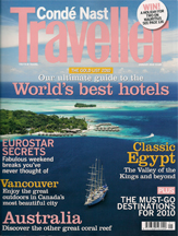 Conde Nast Traveller UK. 2010